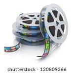 Stack Of Metal Film Reels With...