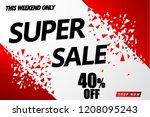 super sale banner template... | Shutterstock .eps vector #1208095243
