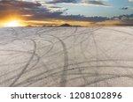 sunset asphalt asphalt tire...   Shutterstock . vector #1208102896