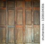 Brown Vintage Wooden Door Or...