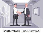 business partners shaking hands ... | Shutterstock .eps vector #1208104966