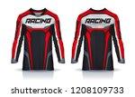 t shirt sport design template ...   Shutterstock .eps vector #1208109733
