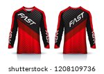 t shirt sport design template ... | Shutterstock .eps vector #1208109736