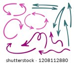 hand drawn diagram arrow icons... | Shutterstock .eps vector #1208112880