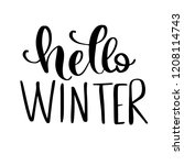 hello winter  vector hand drawn ... | Shutterstock .eps vector #1208114743