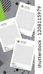 trendy editable template for... | Shutterstock .eps vector #1208115979