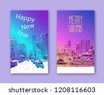 trendy cover template. winter... | Shutterstock .eps vector #1208116603