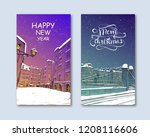 trendy cover template. winter... | Shutterstock .eps vector #1208116606