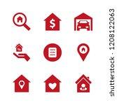 residential icon. residential... | Shutterstock .eps vector #1208122063