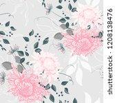 vector seamless pattern of a... | Shutterstock .eps vector #1208138476