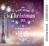 christmas greeting card   night ... | Shutterstock .eps vector #120814024