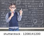 education concept with funny... | Shutterstock . vector #1208141200