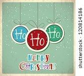 retro christmas background....   Shutterstock .eps vector #120814186