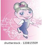 ice skating fairy | Shutterstock .eps vector #120815509