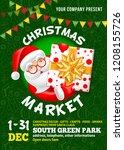 christmas market poster... | Shutterstock .eps vector #1208155726