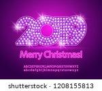 vector light up disco merry...   Shutterstock .eps vector #1208155813