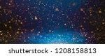 christmas light background. ... | Shutterstock . vector #1208158813