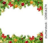 background balls  christmas... | Shutterstock .eps vector #120816274