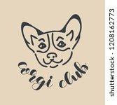 corgi club logo design template....   Shutterstock .eps vector #1208162773