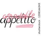 lettering illustration of a... | Shutterstock . vector #1208166343