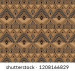 vector seamless tribal pattern. ... | Shutterstock .eps vector #1208166829