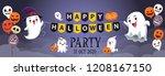 vintage halloween poster design ... | Shutterstock .eps vector #1208167150