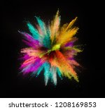 colored powder explosion... | Shutterstock . vector #1208169853