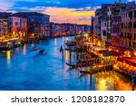 grand canal with gondolas in... | Shutterstock . vector #1208182870