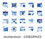 web and marketing icon set.... | Shutterstock .eps vector #1208189653