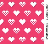 heart pink seamless background  ... | Shutterstock .eps vector #120819280
