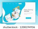 isometric flat vector landing... | Shutterstock .eps vector #1208194936