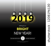 light bulb for new year... | Shutterstock .eps vector #1208196130