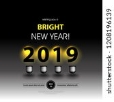 light bulb for new year... | Shutterstock .eps vector #1208196139