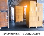 freight transportation and... | Shutterstock . vector #1208200396