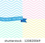 Set Of Zigzag Seamless Pattern...