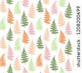 fern frond herbs  tropical... | Shutterstock .eps vector #1208200699