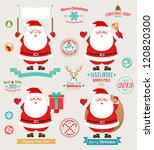 christmas set   santa claus ... | Shutterstock .eps vector #120820300