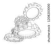 3d gears. vector rendering of... | Shutterstock .eps vector #1208203000