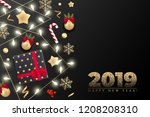 holiday's background for merry... | Shutterstock .eps vector #1208208310