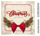 holiday's background for merry... | Shutterstock .eps vector #1208208340