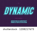 vector bold dynamic alphabet... | Shutterstock .eps vector #1208217673