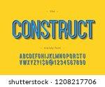 vector bold construct alphabet... | Shutterstock .eps vector #1208217706