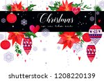 christmas holiday card in...   Shutterstock .eps vector #1208220139