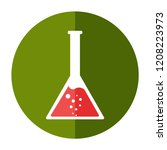 potion test tube icon. flat...   Shutterstock .eps vector #1208223973