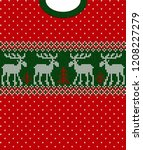 ugly sweater merry christmas... | Shutterstock .eps vector #1208227279
