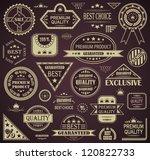 vector set of retro labels.... | Shutterstock .eps vector #120822733