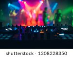 dj mixer controller panel for... | Shutterstock . vector #1208228350