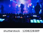 dj mixer on the table... | Shutterstock . vector #1208228389