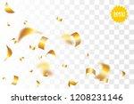 random falling golden glitter... | Shutterstock .eps vector #1208231146