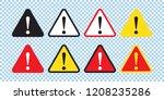 danger sign  warning sign ... | Shutterstock .eps vector #1208235286